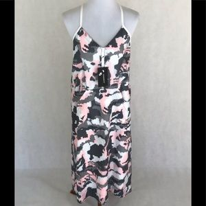 Nike Sportswear pink and gray Camo tent dress